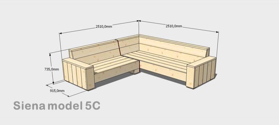 Keuken Hoekbank Zelf Maken : Ik zoek een stappenplan voor het maken van een steigerhouten hoekbank?