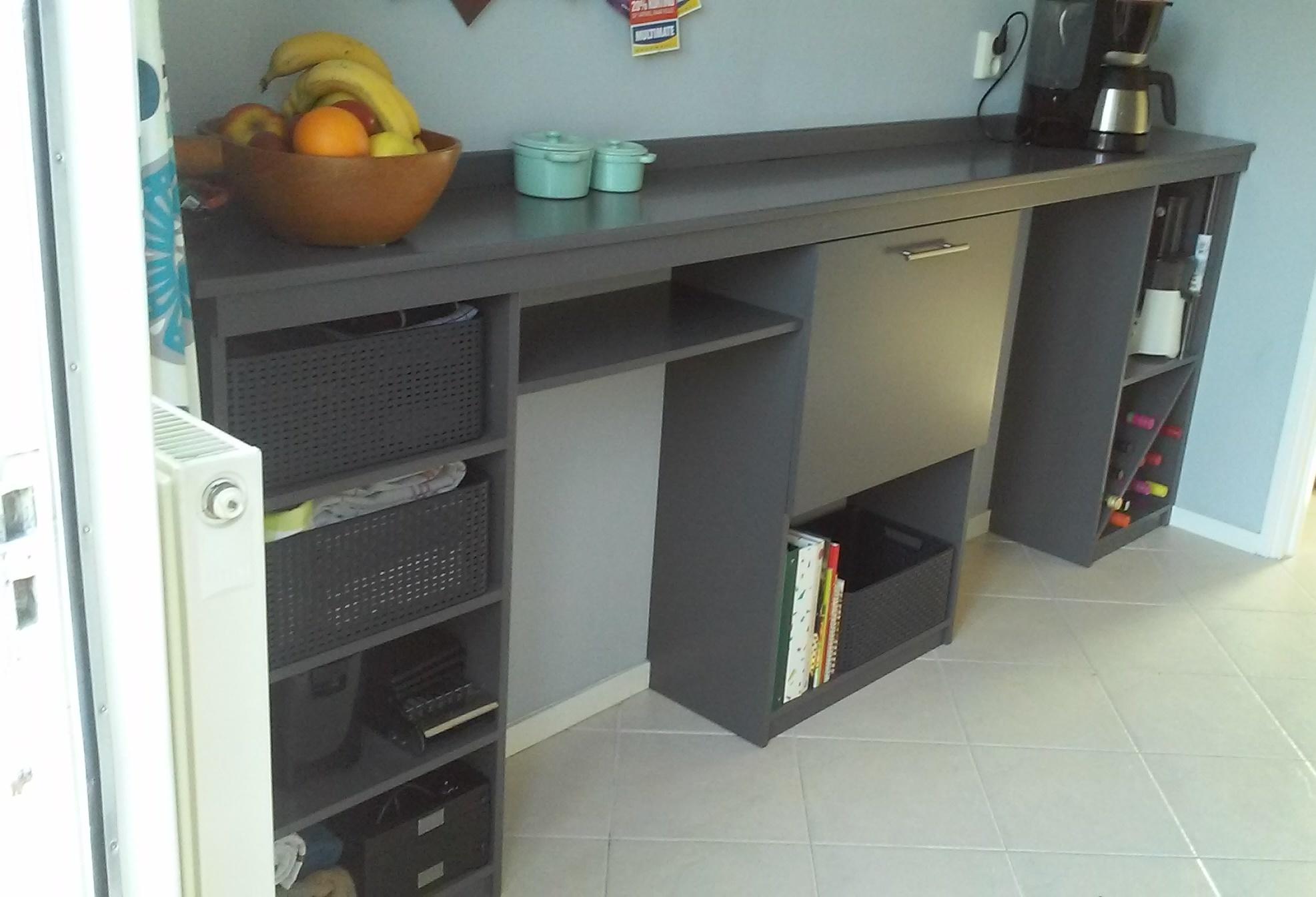 Keuken Wandkast Maken : Keuken Wandkast Maken : wandkast keuken met opbergvakken, middenkast